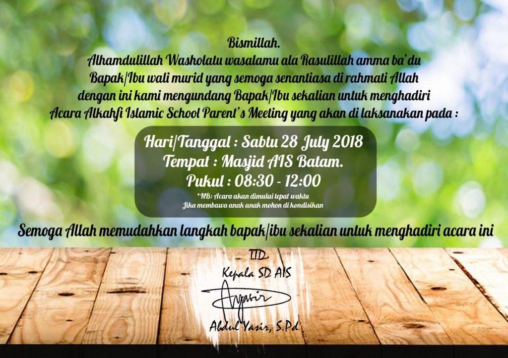 Parents Meeting SD AIS 2018/2019