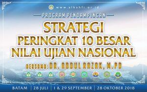 Poster Program pendampingan strategi 10 besar UN di AIS