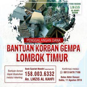 Poster Donasi Gempa Lombok