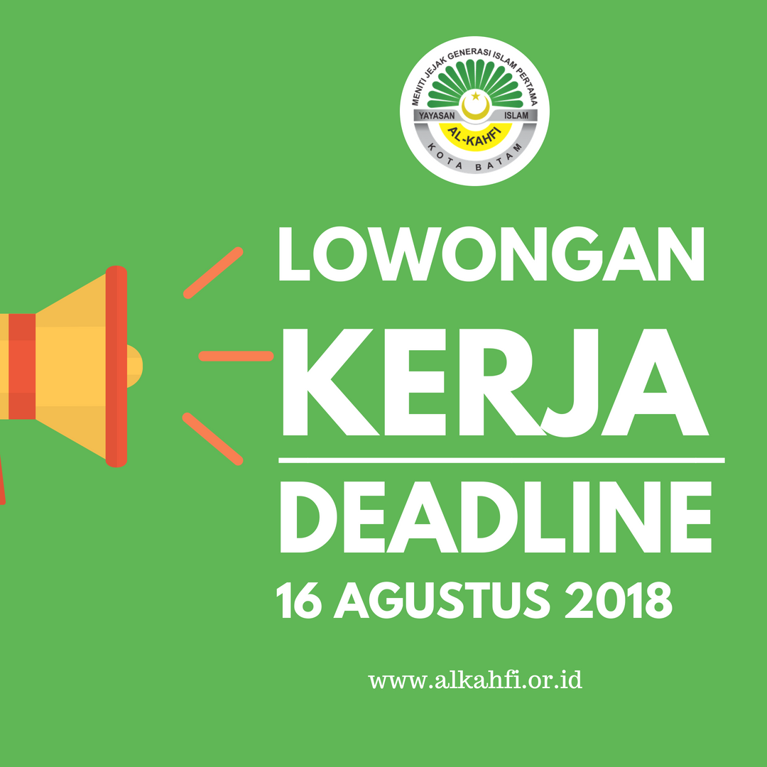 Lowongan Kerja Deadline 16 Agustus 2018 Ais Batam Sekolah Islam Bagus Di Batam