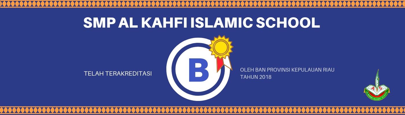 Banner Akreditasi sekolah SMP AIS