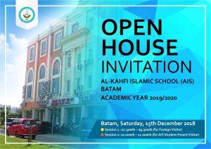 Open House Invitation 2018 - Sekolah Islam di Batam AIS