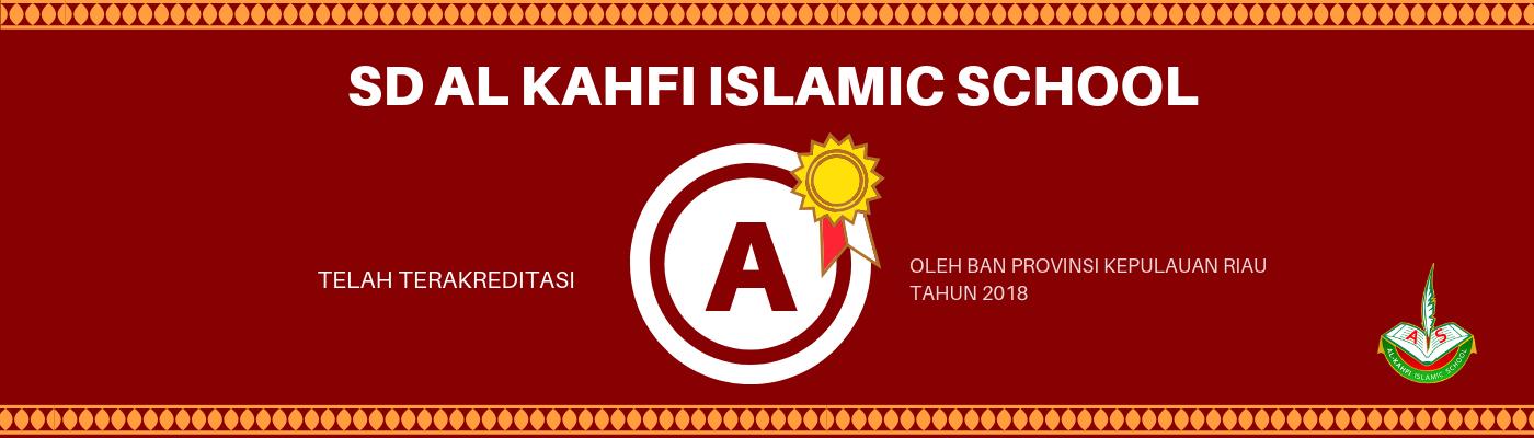 Banner akreditasi sekolah SD AIS